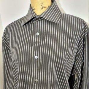 Banana Republic Charcoal Grey Pinstripe Shirt